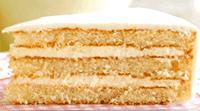 Gâteau à la vanille avec fourrage citron