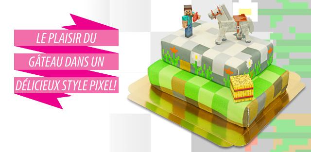 Gâteaux avec figurines Minecraft