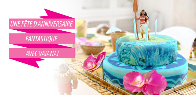 Figurine Vaiana sur gâteaux