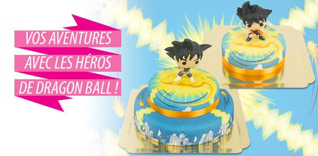Gâteaux avec figurines Dragon Ball Z