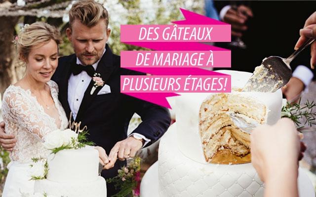 Gâteaux de mariage - plusieurs étages