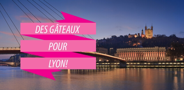 Livraison de gâteaux à Lyon !
