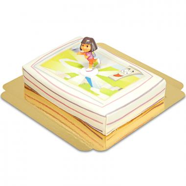 Dora sur son gâteau aventurier