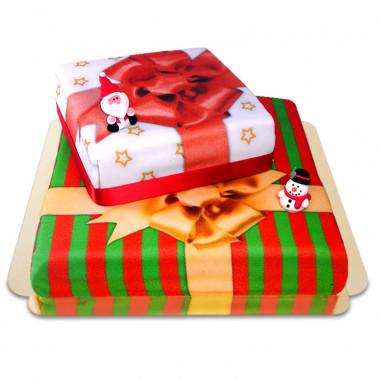 Gâteau Cadeau de Noël