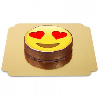 Gâteau Sacher Emoji Amoureux