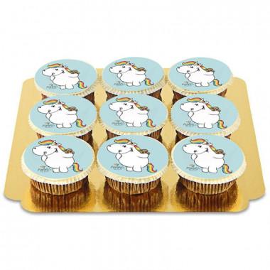 9 Cupcakes Licornes - Bleu