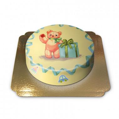 Gâteau Ourson sur fond Jaune