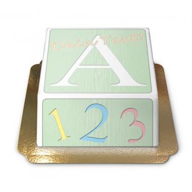 Gâteau coffre à jouets pour enfants (vert)