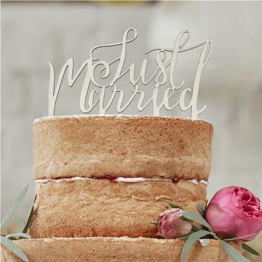 "Plaque Décorative ""Just Married"""