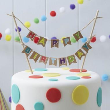 """Guirlande """"Happy Birthday"""" (plusieurs couleurs)"""