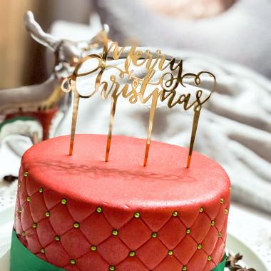 Set de Décoration pour Noël (gâteau non inclus)