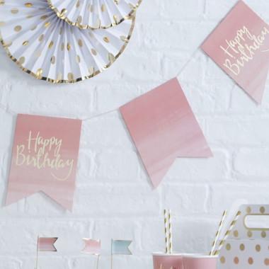 """Kit de décoration """"Anniversaire Rose"""" (gâteau non inclus)"""