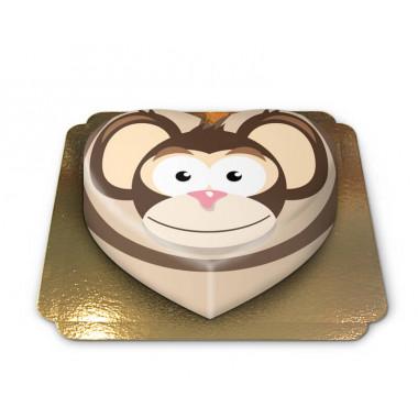 Gâteau singe en forme de coeur