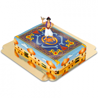 Aladdin sur son tapis sur gâteau d'Agrabah