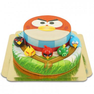 Angry Birds sur gâteau deux étages
