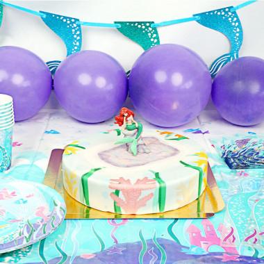Kit anniversaire Sirène (gâteau inclus)