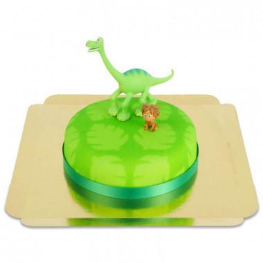 Gâteau Dinosaure avec Figurines Arlo et Spot