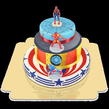 Les Avengers sur gâteau à étages