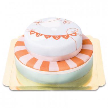 Gâteau Baby Shower à deux étages
