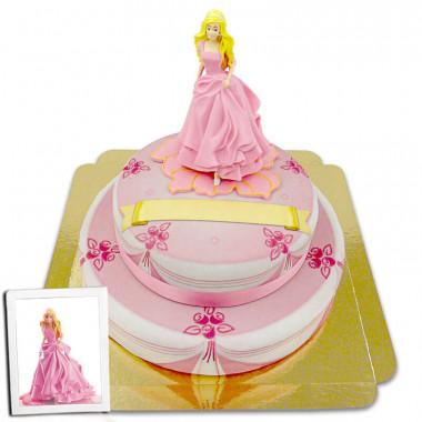 Barbie sur gâteau-scène à 2 étages