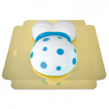 Gâteau Ventre de Grossesse Ruban Bleu