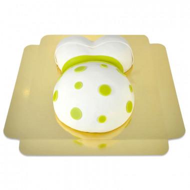 Gâteau Ventre de Grossesse Ruban Vert