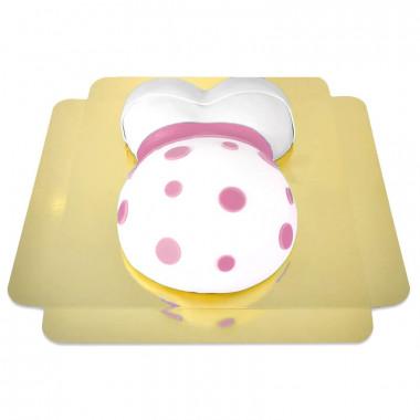 Gâteau Ventre de Grossesse Ruban Rose