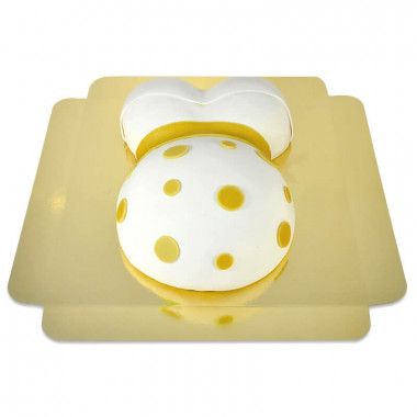 Gâteau Ventre de Grossesse Ruban Jaune