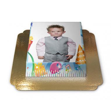 Gâteau-Photo Cadre thème Anniversaire