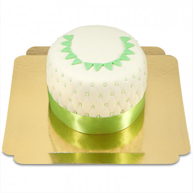 """Gâteau """"Happy Birthday"""" Deluxe - Vert"""