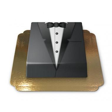 Gâteau Smoking noir rectangulaire