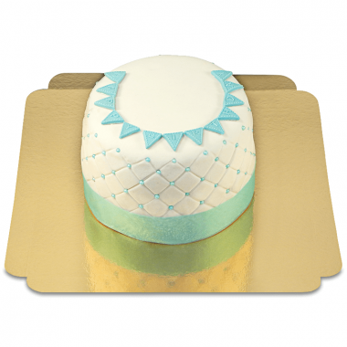 "Gâteau ""Happy Birthday"" Deluxe - Bleu"