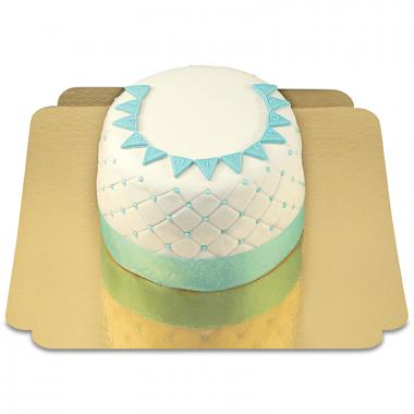 "Gâteau ""Happy Birthday"" Deluxe - Bleu"