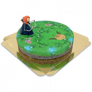 Merida sur son Gâteau-Cible