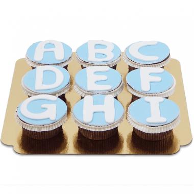Cupcakes avec lettres
