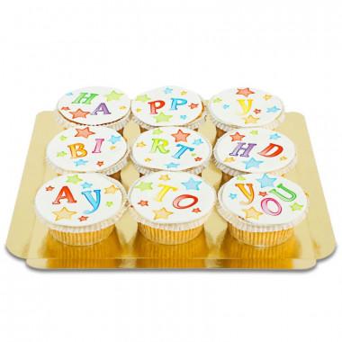 Cupcakes d'anniversaire (9 pièces)