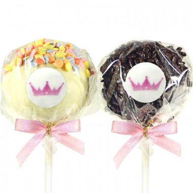 Cake-Pops Logo - red velvet & pépites de chocolat (12 pièces)