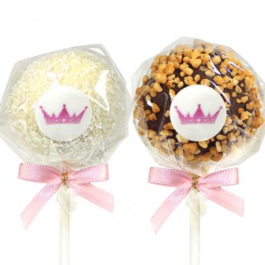 Cake-Pops Logo à la noix de coco et aux éclats de noisettes (12 pièces)