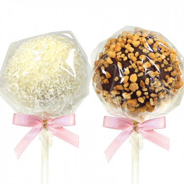 Cake-Pops à la noix de coco et aux éclats de noisettes (12 pièces)