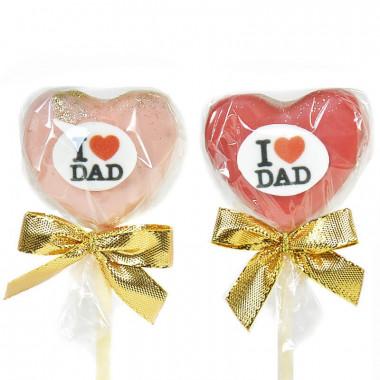 """Cake-Pops """"I Love Dad"""" (12 pièces)"""