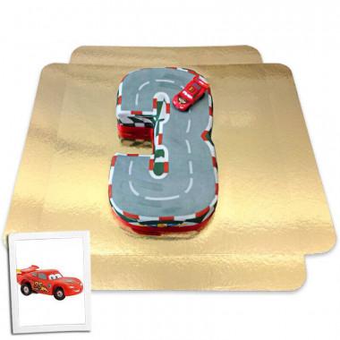 Gâteau chiffre 3 figurine Cars