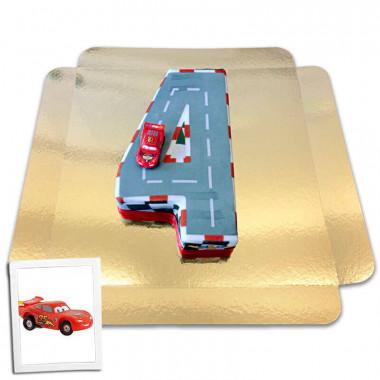 Gâteau chiffre 4 figurine Cars