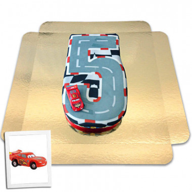 Gâteau chiffre 5 figurine Cars