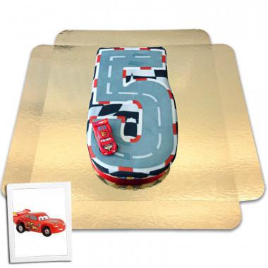 Gâteau Chiffre Cars N°5