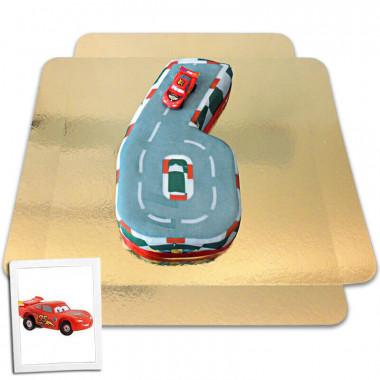 Gâteau chiffre 6 figurine Cars