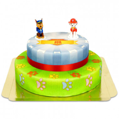 Gâteau Pat'Patrouille 2 étages - Chase et Marshall