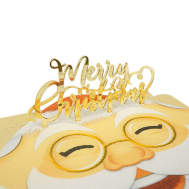 "Cake Topper ""Merry Christmas"""