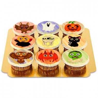 9 Cupcakes créatures d'Halloween
