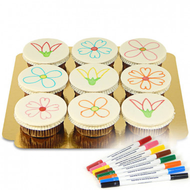 Cupcakes & crayons alimentaires