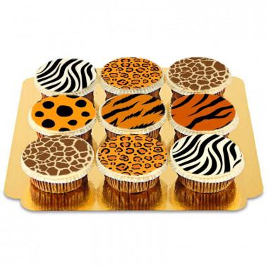 9 Cupcakes motifs animaux